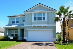 New home construction on the east coast of Florida, USA.